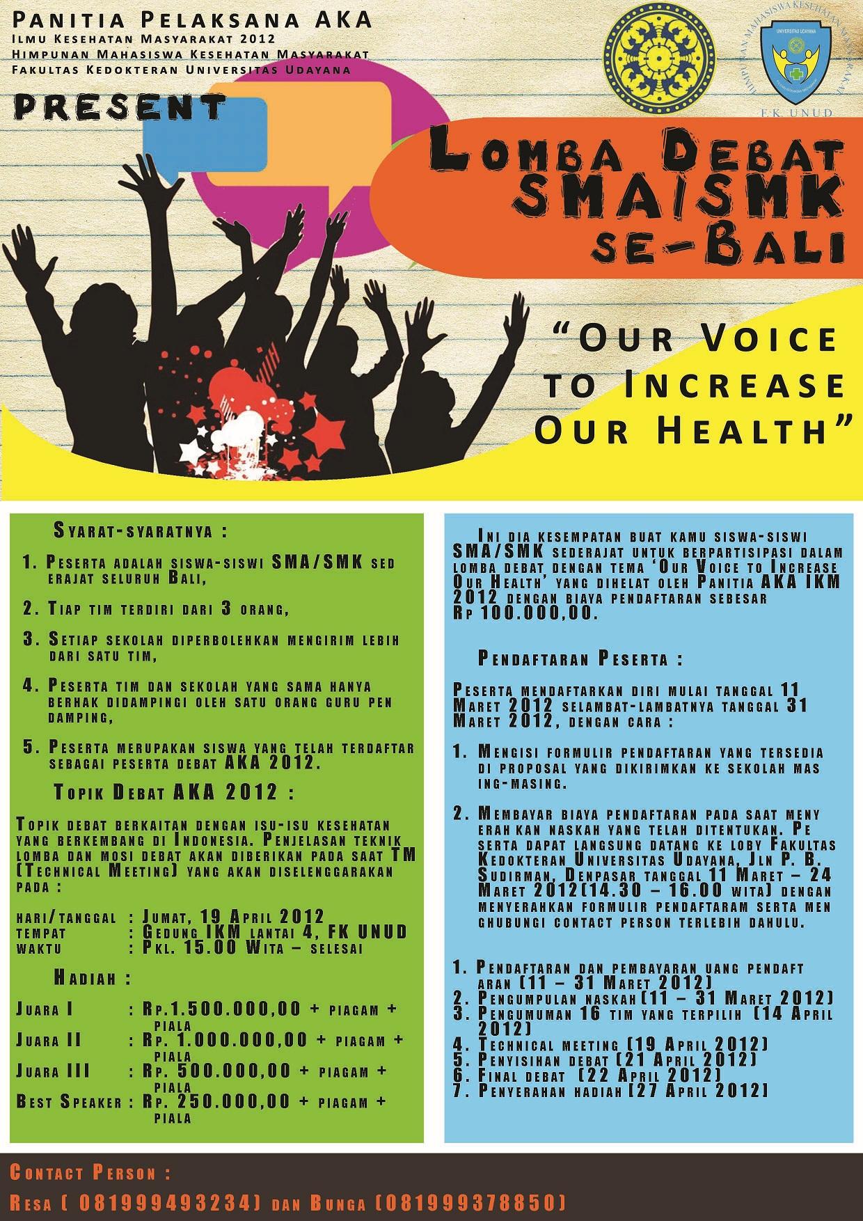 Lomba Himpunan Mahasiswa Kesehatan Masyarakat C Re At Ive
